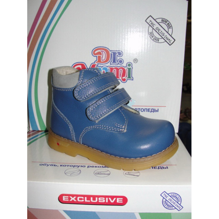 Ботинки 22-25  СИНИЕ КОЖА Утеплитель (25)